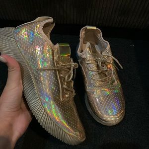 Gold Fashion Nova Sneakers